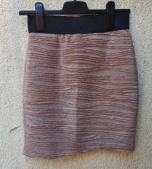 Kratka bež suknja
