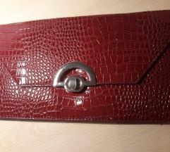 Crvena kroko kožna torba