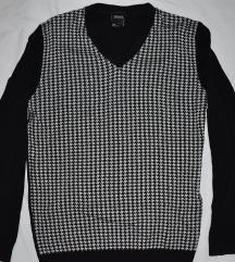 Muška crna karirana majica