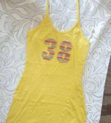 Žuta pamučna haljina XS