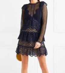 Self Portrait Tieres Guipure Lace mini Dress