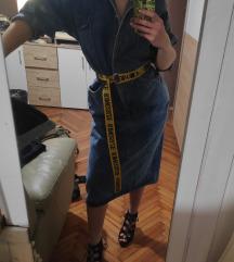 traper retro duga oversized haljina