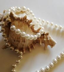 Vintage stakleni biseri ogrlica i narukvica