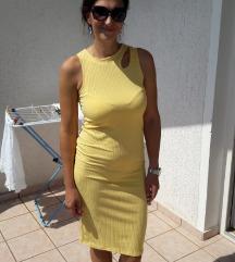 Zara žuta uska haljina