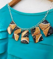 Ogrlica zlatno-crna