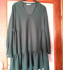 Mango maslinasto zelena haljina