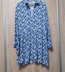 Nova H&M plavo-bijela haljina