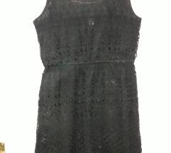 Cipkasta crna haljina