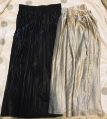 Crna i srebrna plisirana suknja