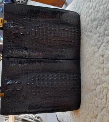 Vintage torbica pravi krokodil