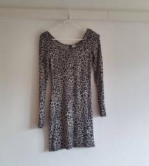 H&M leopard haljina, jednom nošena, kao nova