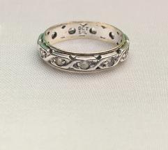 Antik prsten zlato 9ct i srebro