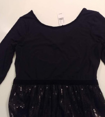 Predivna crna midi haljina - sa etiketom