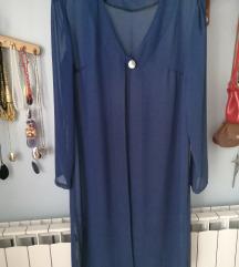 Plava, prozirna košulja/kardigan M/L