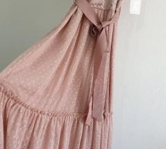 Roza fina haljina