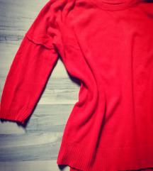 Crveni H&M pulover