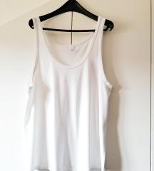Bijele pamućne muške majice L-XL