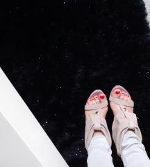 Sandale nude prava koža