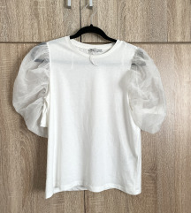 Zara majica s puf rukavima od tila