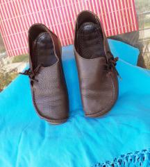 Tamnosmeđe cipele PRAVA KOŽA