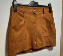 Nova Bershka Suede Suknja ❗