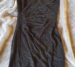 Haljina sljokasta crna