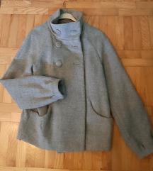 H&M sivi kratki kaput, M