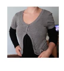 Majica tunika crna sivi bolero veličina M