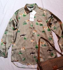 satinirana košulja Zara