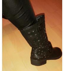 Crne biker čizme