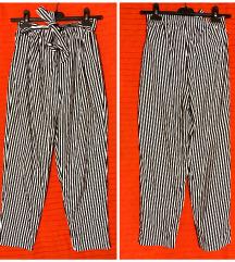 Zara - nove striped hlace - S (36)