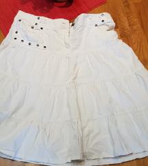 bijela suknja vel 38