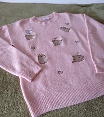 Pulover sa slatkom Pusheen mačkom