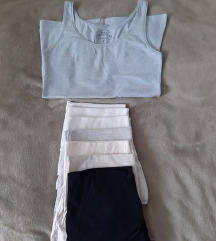 Basic pamucne majice bez rukava vise boja 38