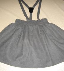 Siva suknja (tregerica) vel.128