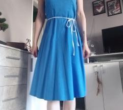 Plava pin up haljina