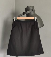h&m crna mini suknja