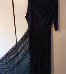 Crna svečana haljina XL