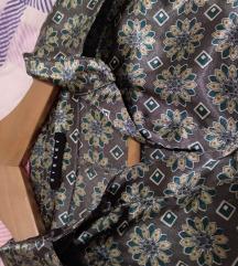 Sisley svilena haljina/košulja do koljena