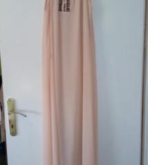 roza lepršava ljetna haljina