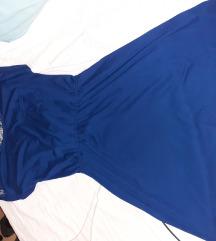 Haljina plava s cipkicom