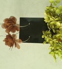 Smeđe cvijetne naušnice