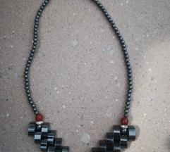 Retro vintage ogrlica metallic