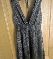 Mango srebrna metallic kratka haljinica