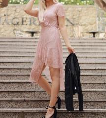 Svjetlo roza haljina - čipkasta