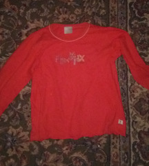 Crvena majica dugi rukav vel.122
