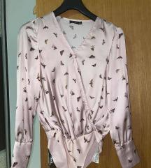 Baby roza košulja-bodi sa leptirićima