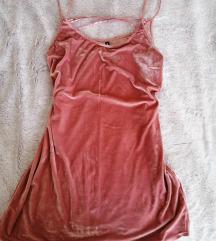 Roza plišana haljina L/XL