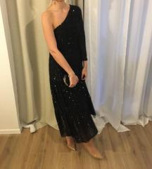 Zara crna sljokasta haljina
