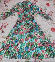 Zara midi floral haljina